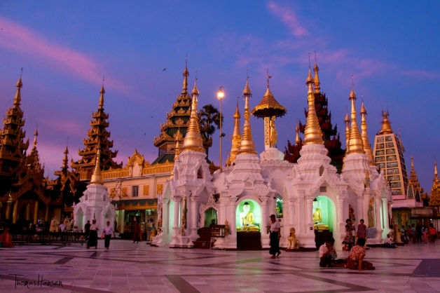 Shwedagon Padoga at Sunset