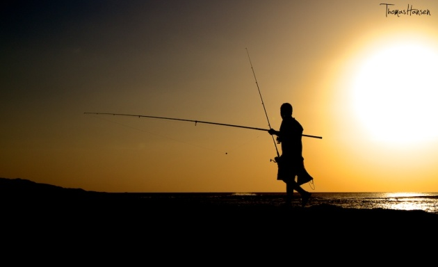 Going Fishing at Sunset in Bali