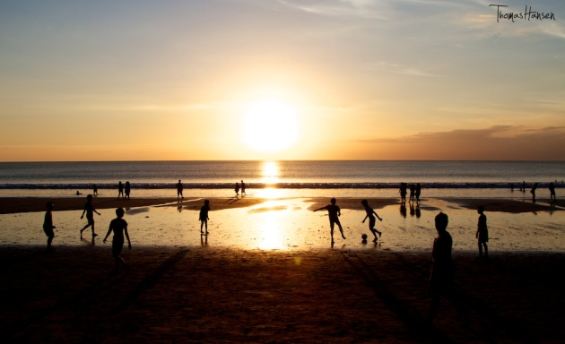 Sunset at Kuta Beach - Bali