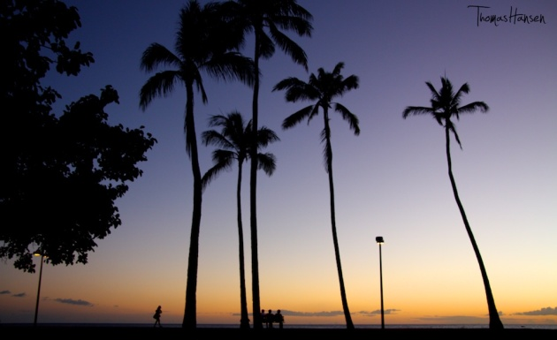 Sunset at Magic Island - Honolulu - Hawaii
