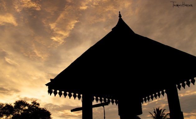 Sunset at the Tooth Temple in Kandy - Sri Lanka
