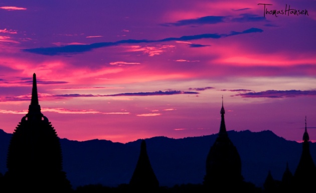 Sunset in Bagan - Myanmar