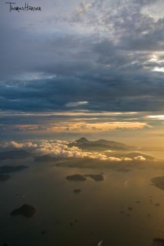 Sunset Off Of Hong Kong Island