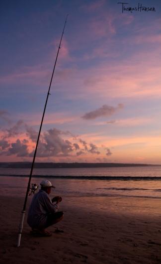 Sunset on Jimbaran Beach - Bali