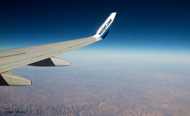 Westjet Winglet Over the Desert