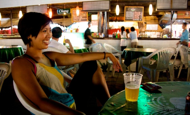 Taking it Easy at Suan Lum Night Bazaar - Bangkok