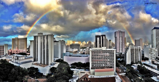 Another Stunning Rainbow in Honolulu Hawaii!
