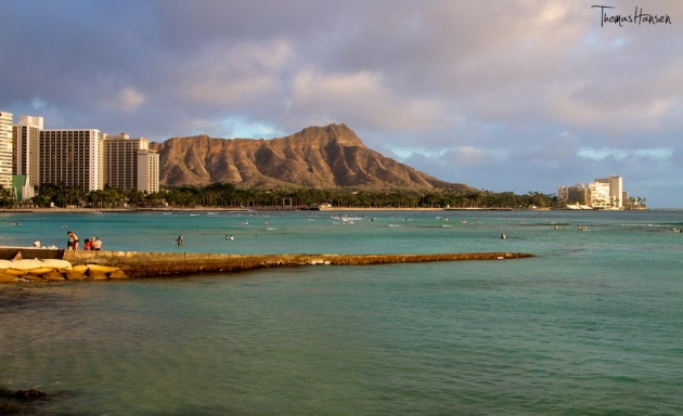 Diamond Head at Sunset - Hawaii