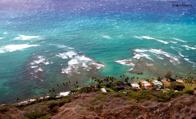 Looking Down From Diamond Head - Hawaii