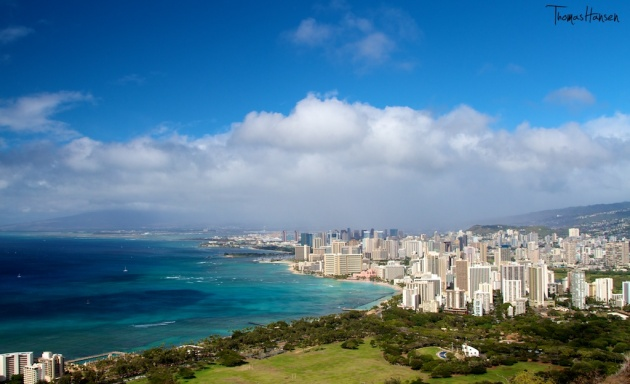 View of Honolulu from Diamond Head - Hawaii