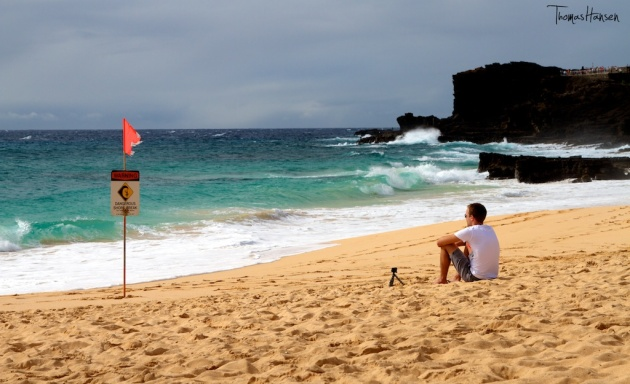 Wave Watching at Sandy Beach - Hawaii