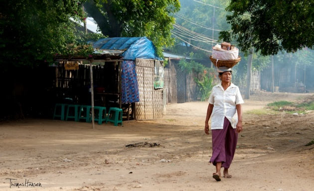 Coming From the Market - Bagan - Myanmar