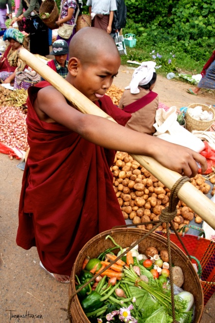 Monk Making Collections - Kalaw - Myanmar
