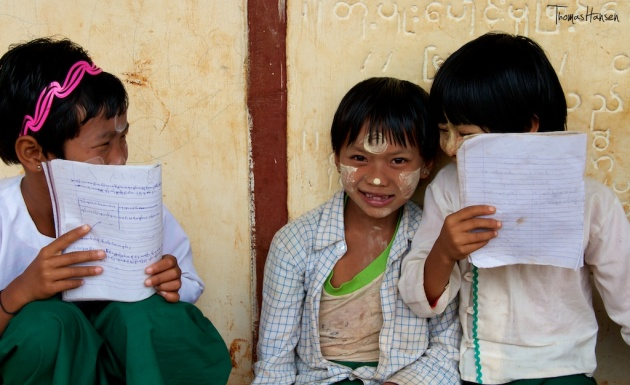 School Girls in Myanmar