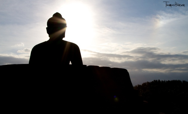Buddha at Sunset - Borobudur - Java - Indonesia01