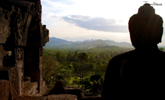 Buddha at Sunset - Borobudur - Java - Indonesia02
