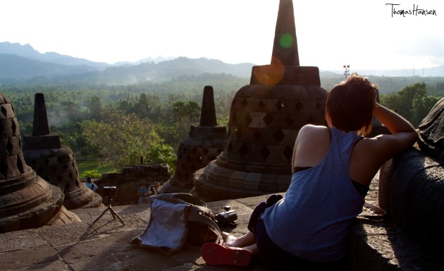 Taking in the View at Borobudur - Java - Indonesia