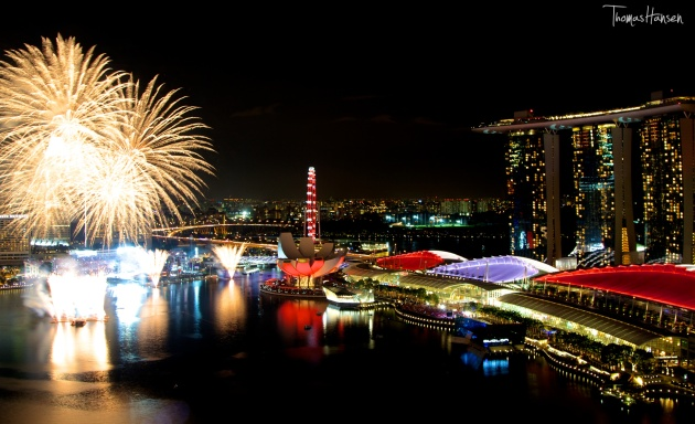 National Day Fireworks - Singapore