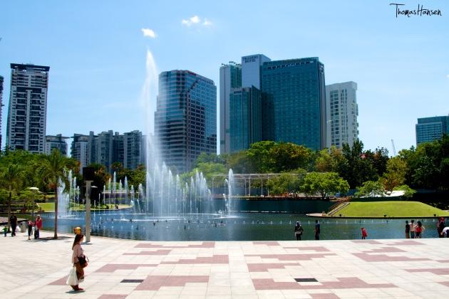 Fountains at Petronas Twin Towers Kuala Lumpur Malaysia