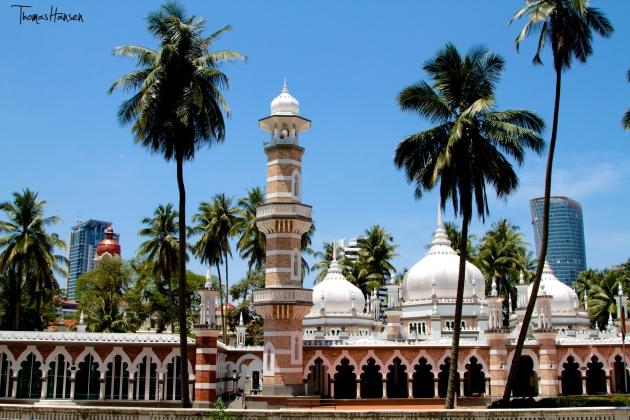 Jamek Mosque in Kuala Lumpur - Malaysia