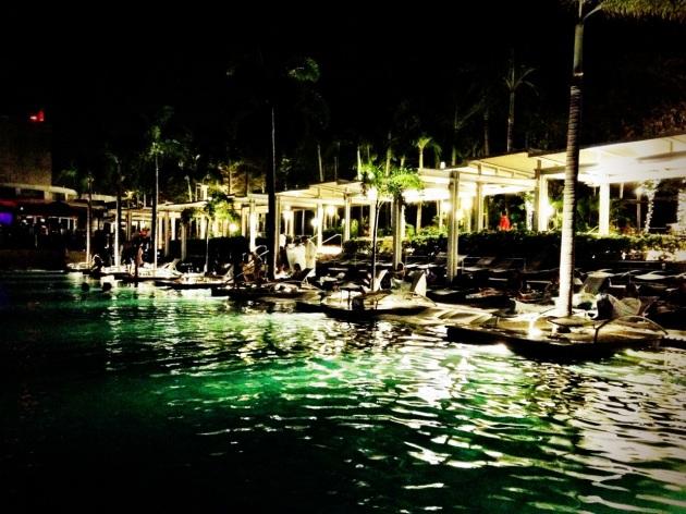 Marina Bay Sands Pool at Night