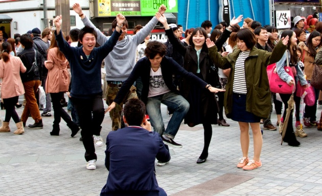 Running Man Pose - Osaka Japan
