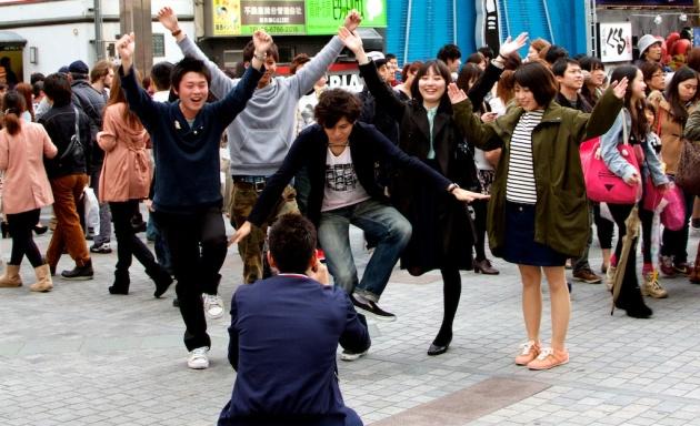 Running Man Pose - Osaka Japan