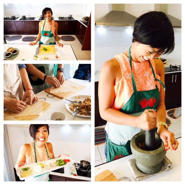 Cooking at the Basil Cookery - Chiang Mai - Thailand