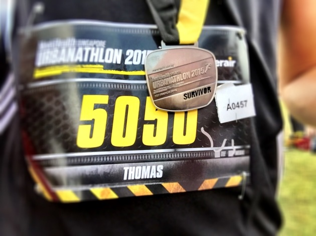 Men's Health Urbanathlon 2015 Finisher Medal - Singapore 01