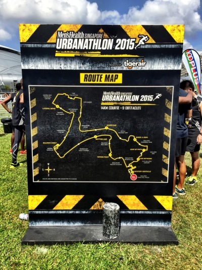 Men's Health Urbanathlon 2015 Race Route- Singapore