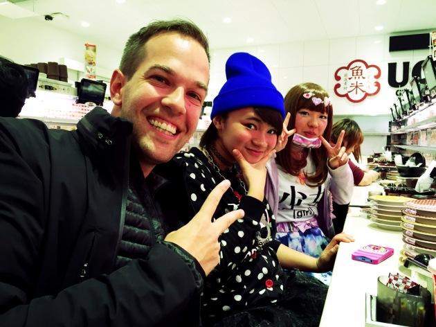 Sushi Friends at Uobei - Tokyo - Japan